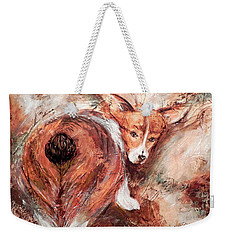 Corgi Butt Weekender Tote Bag by Patricia Lintner