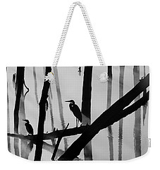 Cormorant And The Heron  Bw Weekender Tote Bag