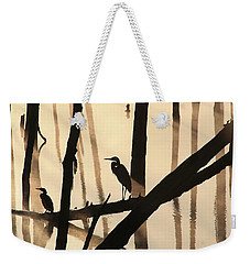 Cormorant And The Heron Weekender Tote Bag