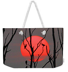 Cormorants At Sunrise Weekender Tote Bag