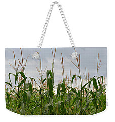 Weekender Tote Bag featuring the photograph Corn Field by Laurel Powell