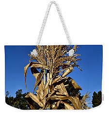Weekender Tote Bag featuring the photograph Corn Stalk by Michael Gordon