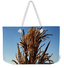 Weekender Tote Bag featuring the photograph Corn Top by Michael Gordon