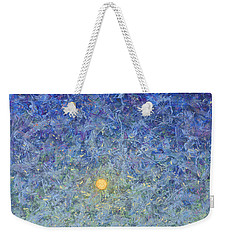 Weekender Tote Bag featuring the painting Cornbread Moon by James W Johnson