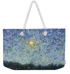 Weekender Tote Bag featuring the painting Cornbread Moon - Square by James W Johnson