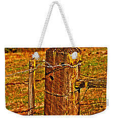 Corner Post At Gate Weekender Tote Bag