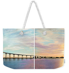 Coronado Bridge Sunset Diptych Weekender Tote Bag