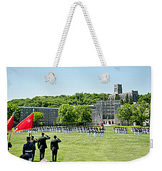 Corps Of Cadets Present Arms Weekender Tote Bag by Dan McManus