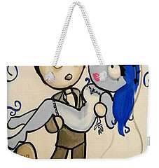 Weekender Tote Bag featuring the painting Corpse Bride by Marisela Mungia