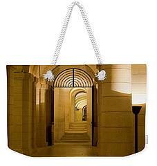 Weekender Tote Bag featuring the photograph Corridors by Victoria Harrington