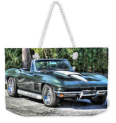 Weekender Tote Bag featuring the photograph Corvette Convertible by Victor Montgomery