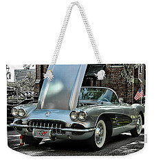 Weekender Tote Bag featuring the photograph Corvette by Victor Montgomery