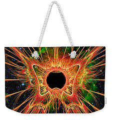 Cosmic Butterfly Phoenix Weekender Tote Bag by Shawn Dall