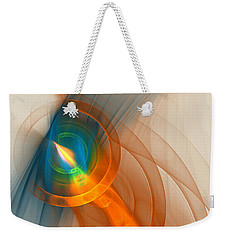 Weekender Tote Bag featuring the digital art Cosmic Candle by Victoria Harrington