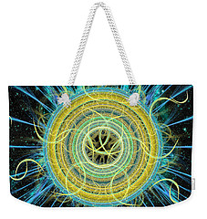 Cosmic Circle Fusion Weekender Tote Bag by Shawn Dall