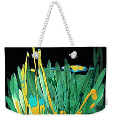 Weekender Tote Bag featuring the painting Cosmic Island by Holly Carmichael
