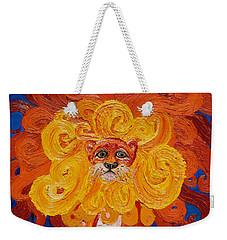 Cosmic Lion Weekender Tote Bag