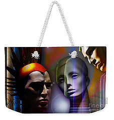 Cosmic Mannequins Triad Weekender Tote Bag by Rosa Cobos
