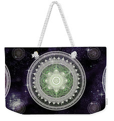 Cosmic Medallians Rgb 2 Weekender Tote Bag by Shawn Dall