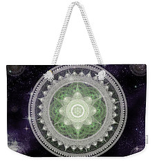 Cosmic Medallions Earth Weekender Tote Bag by Shawn Dall
