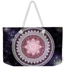Cosmic Medallions Fire Weekender Tote Bag by Shawn Dall