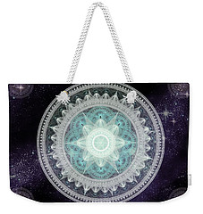 Cosmic Medallions Water Weekender Tote Bag by Shawn Dall