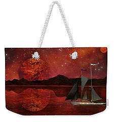 Weekender Tote Bag featuring the painting Cosmic Ocean by Michael Rucker