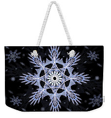 Cosmic Snowflakes Weekender Tote Bag by Shawn Dall