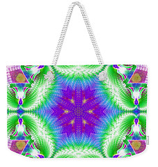 Cosmic Spiral Kaleidoscope 10 Weekender Tote Bag