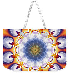 Cosmic Spiral Kaleidoscope 34 Weekender Tote Bag
