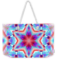 Cosmic Spiral Kaleidoscope 45 Weekender Tote Bag