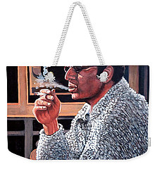 Weekender Tote Bag featuring the painting Cosmo Kramer by Tom Roderick