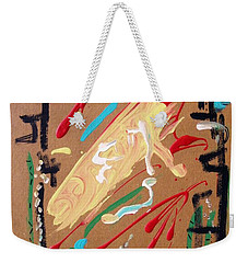 Weekender Tote Bag featuring the painting Cosmopolitan by Mary Carol Williams