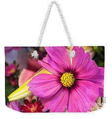 Cosmos Bright Weekender Tote Bag by Arlene Carmel