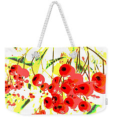 Weekender Tote Bag featuring the photograph Cotoneaster by Barbara Moignard