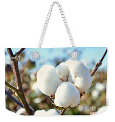 Cotton Boll Iv Weekender Tote Bag by Debbie Portwood