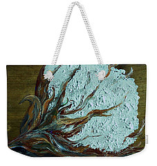 Cotton Boll On Wood Weekender Tote Bag