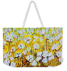Cotton Fields Back Home Weekender Tote Bag