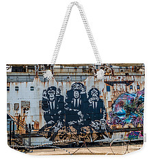 Weekender Tote Bag featuring the photograph Council Of Monkeys 2 by Adrian Evans