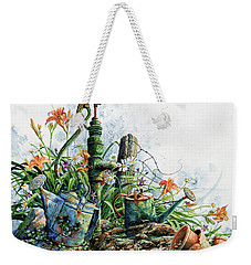 Weekender Tote Bag featuring the painting Country Charm by Hanne Lore Koehler