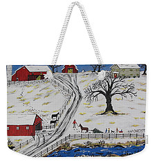 Country Christmas Tree Weekender Tote Bag