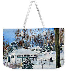 Country Club In Winter Weekender Tote Bag