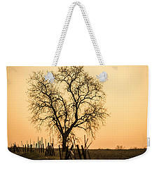Country Fence Sunset Weekender Tote Bag