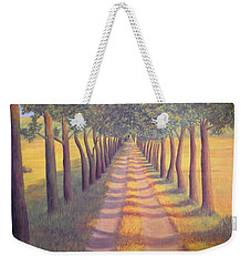 Weekender Tote Bag featuring the painting Country Lane by Sophia Schmierer