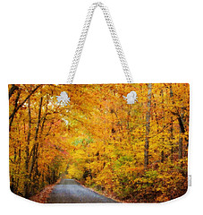 Country Road In Fall Weekender Tote Bag