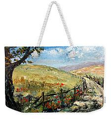 Country Road Weekender Tote Bag by Lee Piper