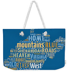 Country Roads 3 Weekender Tote Bag by Paulette B Wright