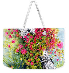 Country Rose Weekender Tote Bag by Janine Riley