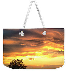 Country Scene From Hilltop To Hilltop Weekender Tote Bag