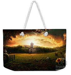 Country Side Painting Weekender Tote Bag